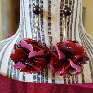 kate spade Jewelry - Kate Spade Flower Acrylic Dangle Earrings